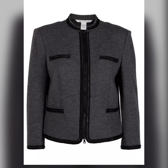 DVF Diane von Furstenberg Roccoco Gray Jacket